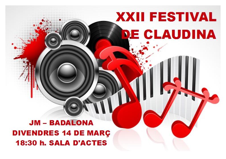 XXII FESTIVAL CLAUDINA