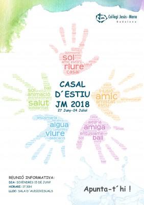 POSTER A4- CASAL D´ESTIU JM 2018 v4
