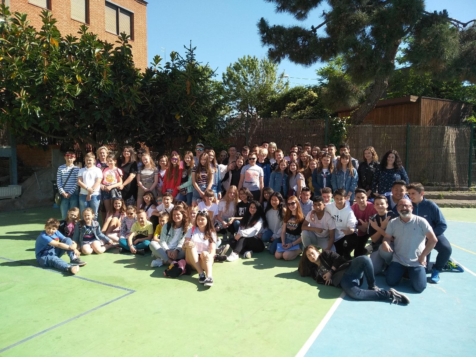 Visita de un grup d'alumnes polonesos