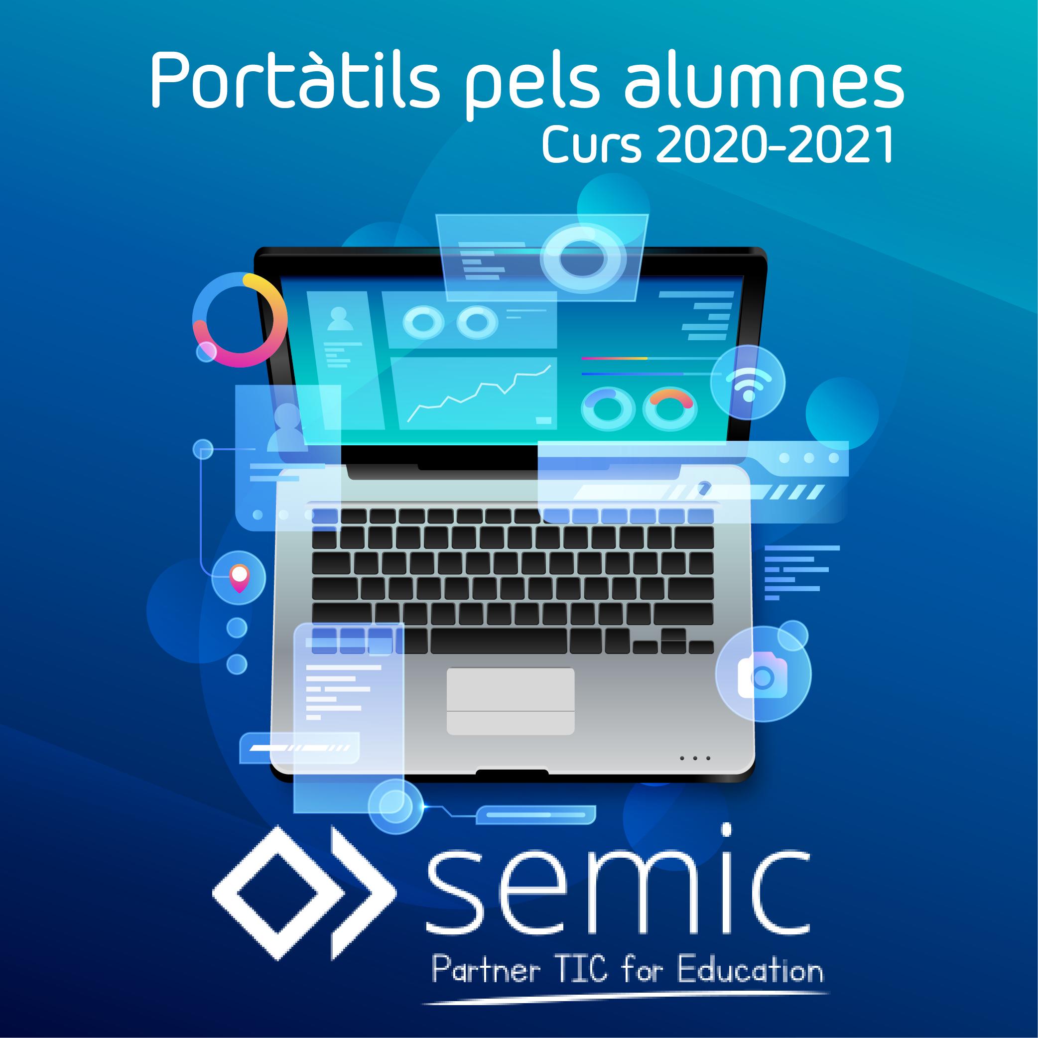 Portàtils pels alumnes curs 2020-2021