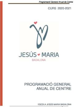 Programació General Anual de Centre 20-21